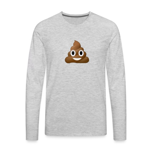 Poo E-moji - Men's Premium Long Sleeve T-Shirt