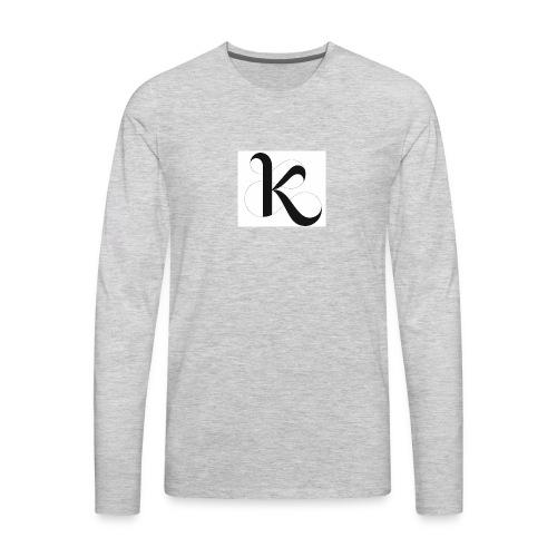 Fancy k stand for king - Men's Premium Long Sleeve T-Shirt