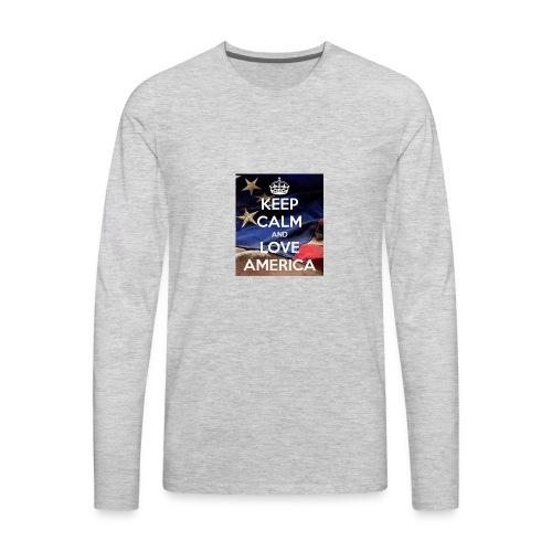 Keep calm and love America - Men's Premium Long Sleeve T-Shirt