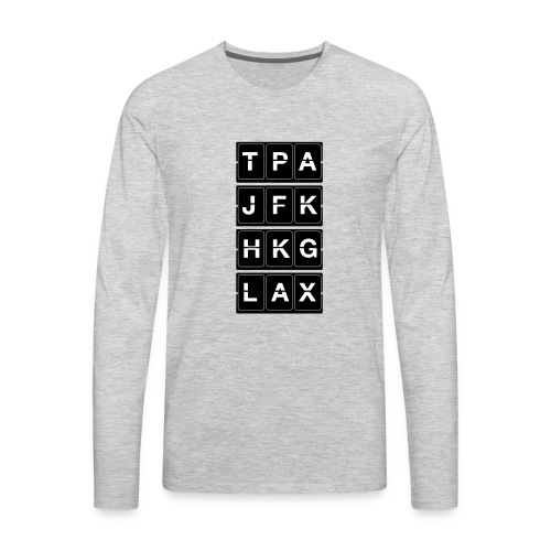 Catching Flights Tee - Men's Premium Long Sleeve T-Shirt