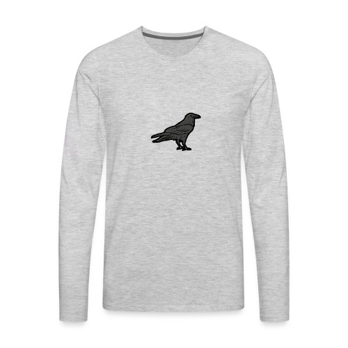 Raven's Nest Emblem - Men's Premium Long Sleeve T-Shirt