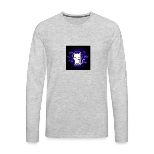 Pew Pew Kitty clean grande - Men's Premium Long Sleeve T-Shirt