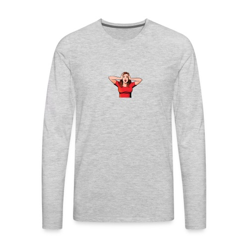 shockedwomanimg - Men's Premium Long Sleeve T-Shirt