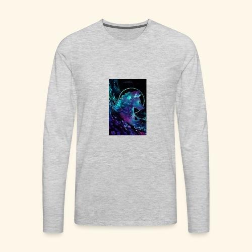 night wolf - Men's Premium Long Sleeve T-Shirt