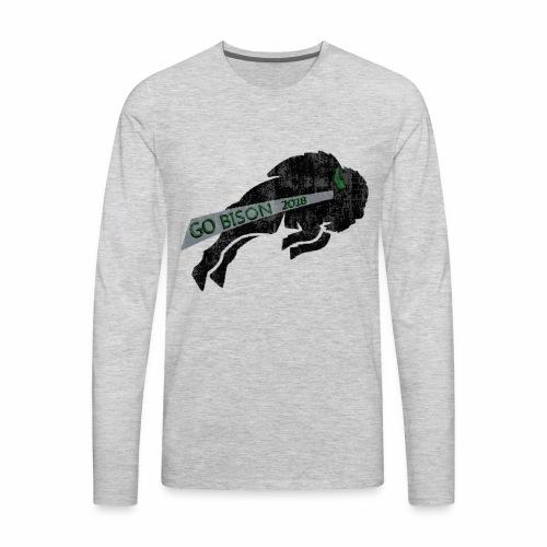 Go Bison logo - Men's Premium Long Sleeve T-Shirt