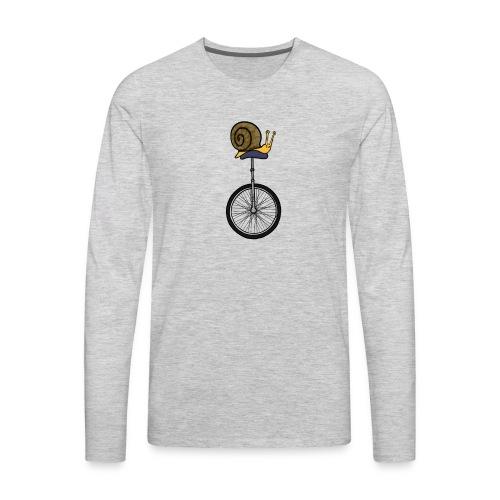 Unicycle Snail - Men's Premium Long Sleeve T-Shirt