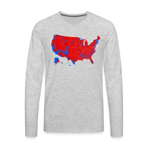 2016 Presidential Election by County - Men's Premium Long Sleeve T-Shirt