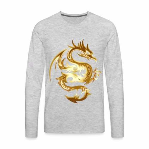 Abstract golden dragon - Men's Premium Long Sleeve T-Shirt