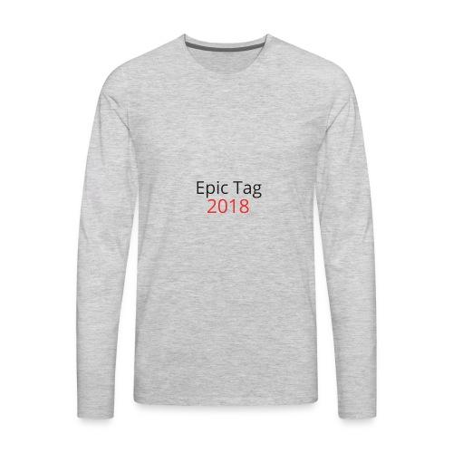 Epic Tag Word Logo - Men's Premium Long Sleeve T-Shirt