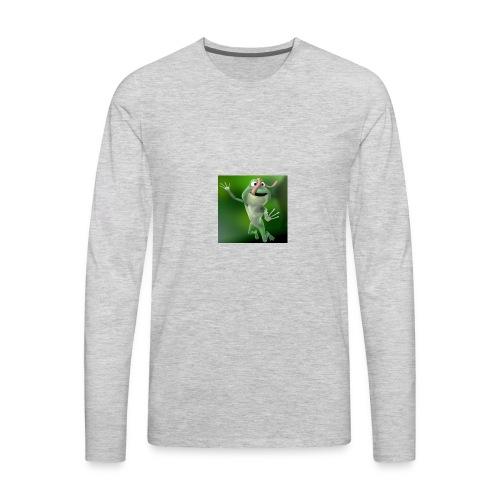 Capture 2017 12 08 17 31 39 1 green frog - Men's Premium Long Sleeve T-Shirt