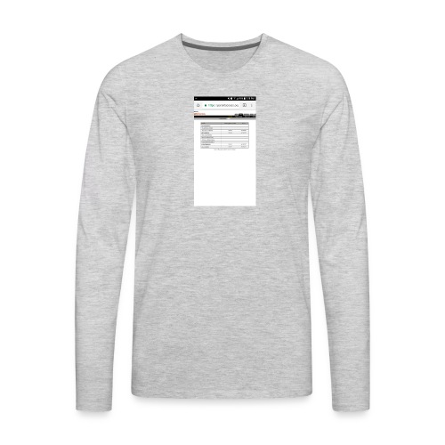 Good time for back school - Men's Premium Long Sleeve T-Shirt