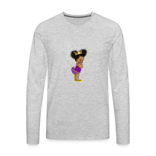 RPAfricanPrincess5-AfroPuffs - Men's Premium Long Sleeve T-Shirt