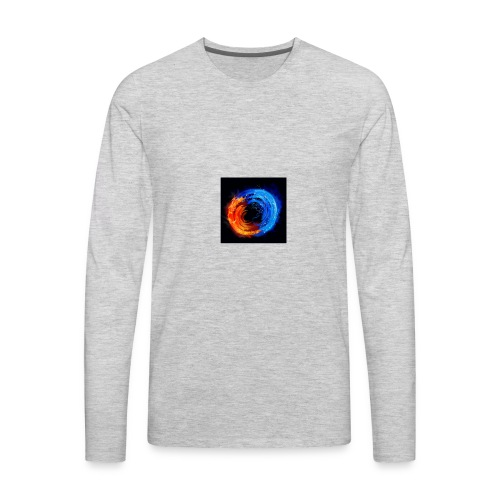 swirling fire and water 310265 - Men's Premium Long Sleeve T-Shirt