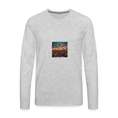 Trippy Moon - Men's Premium Long Sleeve T-Shirt