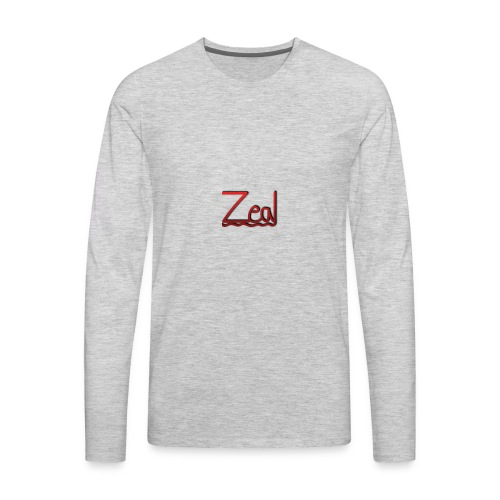 Zeal Red Logo - Men's Premium Long Sleeve T-Shirt
