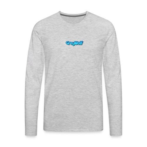 TEXT of GreyWolf - Men's Premium Long Sleeve T-Shirt