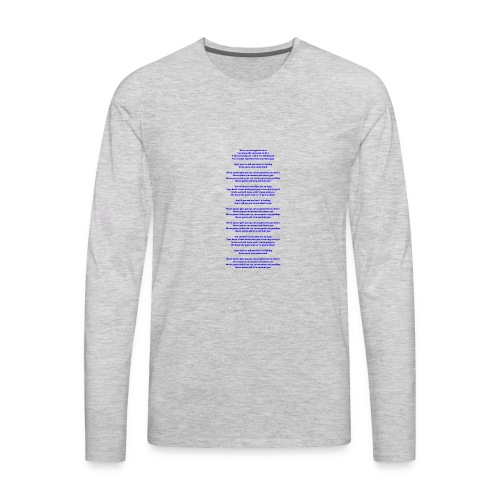 Never Gonna Give You Up - Men's Premium Long Sleeve T-Shirt