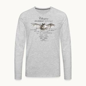 LITTLE BROWN BAT- CAROLYN SANDSTROM - Men's Premium Long Sleeve T-Shirt