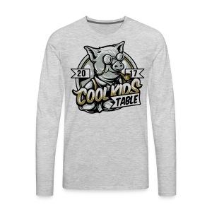 cool kids table pig - Men's Premium Long Sleeve T-Shirt
