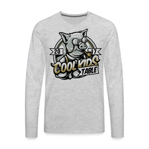 cool kids table pig - Men's Premium Long Sleeve T-Shirt