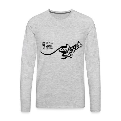 Running Cheetah - Men's Premium Long Sleeve T-Shirt