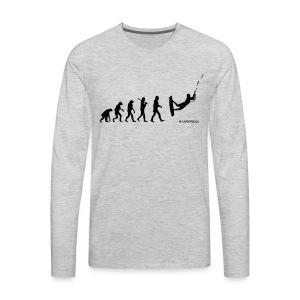 Kite surfing Evolution - Men's Premium Long Sleeve T-Shirt