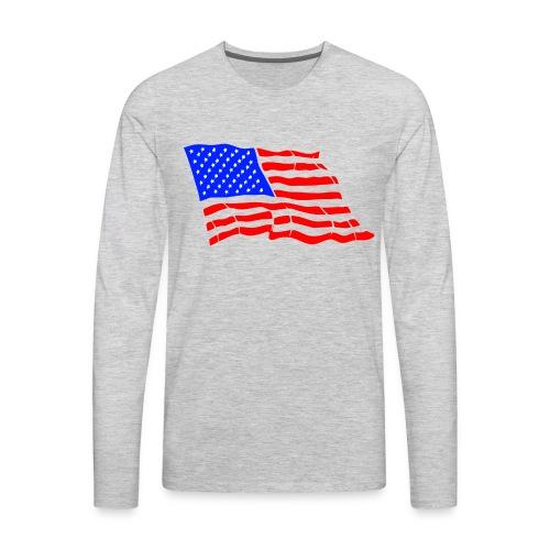 American Flag - Men's Premium Long Sleeve T-Shirt