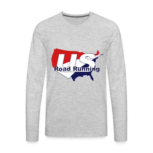 US Road Running Logo - Men's Premium Long Sleeve T-Shirt