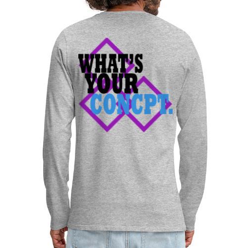 WHAT'S YOUR CONCPT. Purple Tri-Square Back Print - Men's Premium Long Sleeve T-Shirt