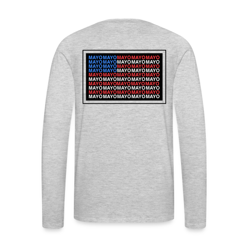 Mayo AMERICAN logo - Men's Premium Long Sleeve T-Shirt