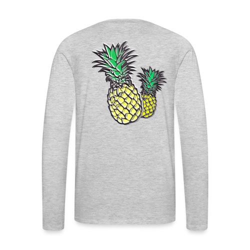 Retro Pineapple - Men's Premium Long Sleeve T-Shirt