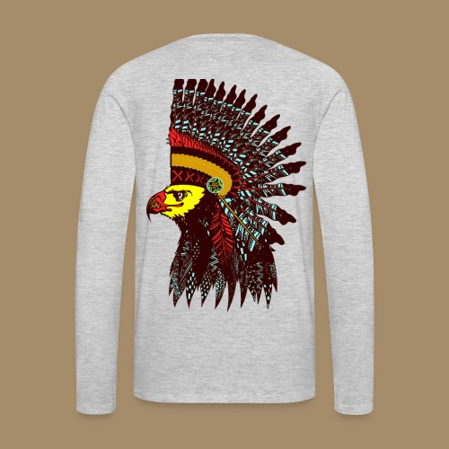 Tribal Eagle Totem with Headdress - Men's Premium Long Sleeve T-Shirt