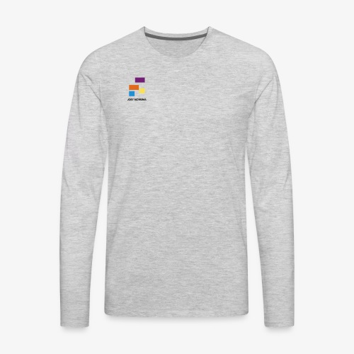 White with Colorful Shapes Abstract Logo 2 - Men's Premium Long Sleeve T-Shirt