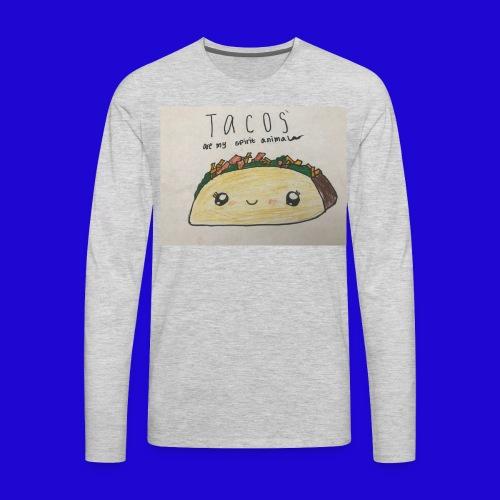 Tacos are my Spirit Animal - Men's Premium Long Sleeve T-Shirt