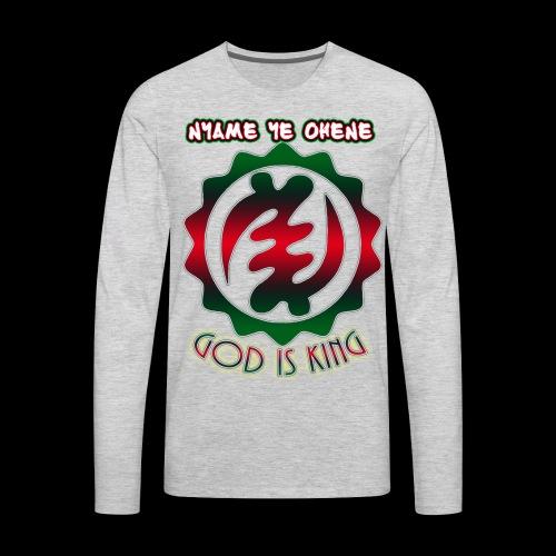 God is King Adinkra - Men's Premium Long Sleeve T-Shirt