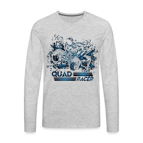 Blue Quad Racer Grunge - Men's Premium Long Sleeve T-Shirt