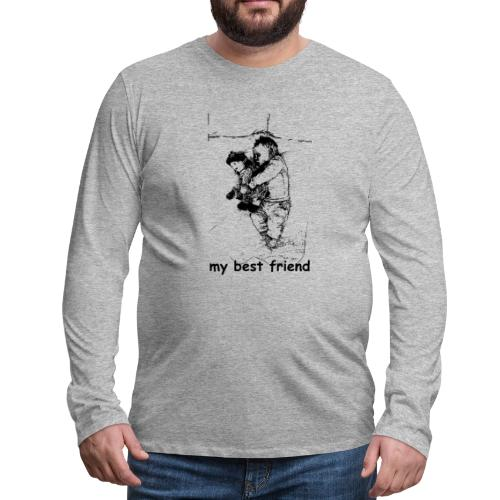 My Best Friend (baby) - Men's Premium Long Sleeve T-Shirt
