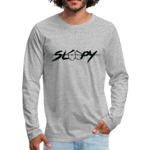 Sleepy Logo Black - Men's Premium Long Sleeve T-Shirt