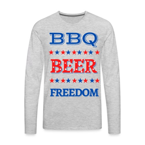 BBQ BEER FREEDOM - Men's Premium Long Sleeve T-Shirt