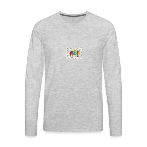 music banner - Men's Premium Long Sleeve T-Shirt