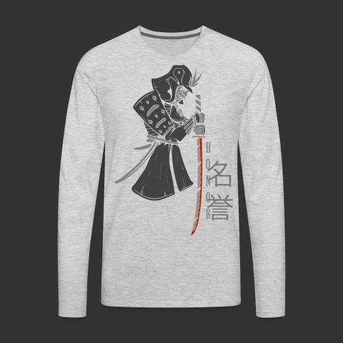 Samurai (Digital Print) - Men's Premium Long Sleeve T-Shirt