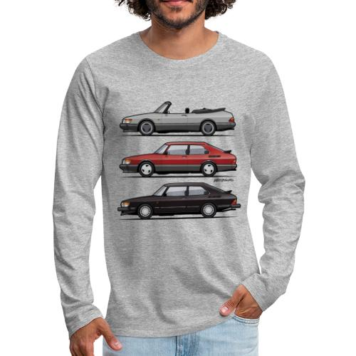 Saab 900 Turbo Trio - Men's Premium Long Sleeve T-Shirt