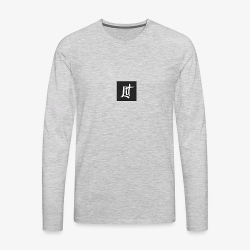 lit logo chest mens premium t shirt - Men's Premium Long Sleeve T-Shirt