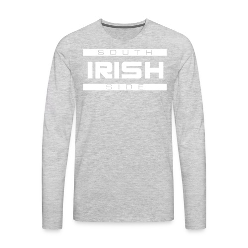 Southside Irish White - Two Bar - Men's Premium Long Sleeve T-Shirt