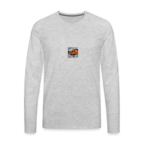 basketball championship banner ball fire icon text - Men's Premium Long Sleeve T-Shirt