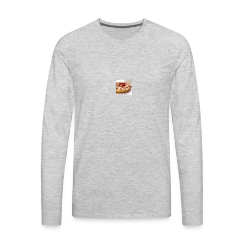 peach strawberry upside down cake 80 - Men's Premium Long Sleeve T-Shirt
