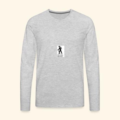 Womyn of the Woods Hiker Girl - Men's Premium Long Sleeve T-Shirt