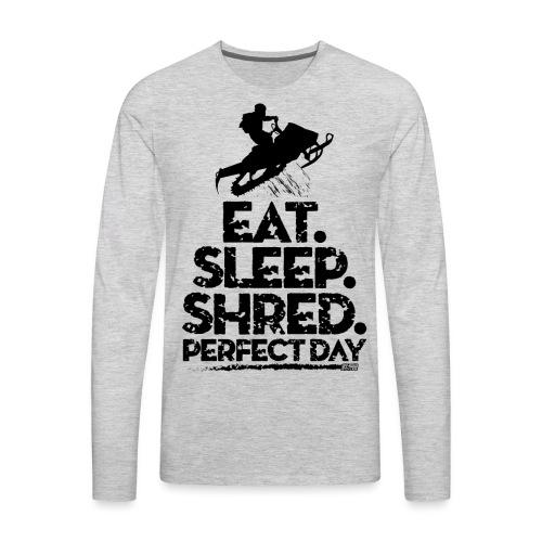 Snowmobile Eat Sleep - Men's Premium Long Sleeve T-Shirt