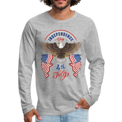 independence day 4 july - Men's Premium Long Sleeve T-Shirt