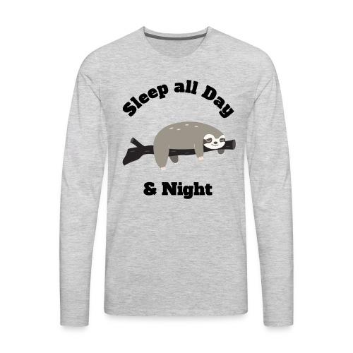 Sloth Funny Design - Men's Premium Long Sleeve T-Shirt